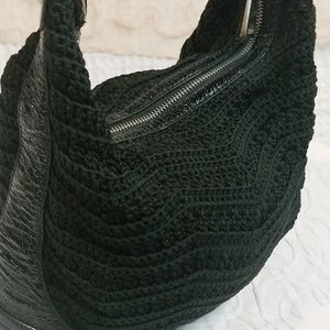 The Sak Bags - The Sak Black Crocheted Shoulder Bag